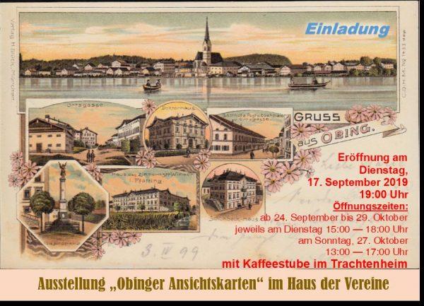 Titelbild zur Veranstaltung : Ausstellung – Obinger Ansichtskarten