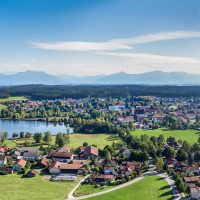 Obing mit Chiemgauer Alpen