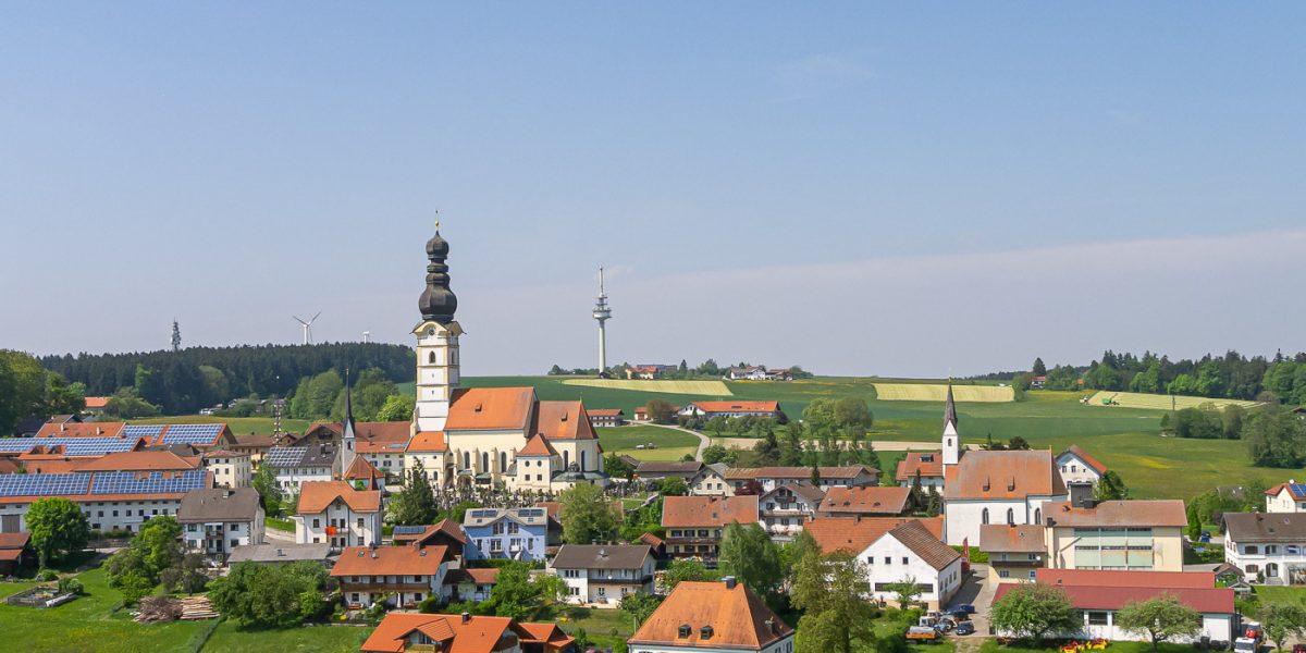 schnaitsee kirche fernsehturm
