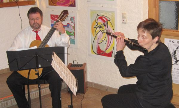 Titelbild zur Veranstaltung : Konzert für Flöte und Gitarre im Fiehrerhof
