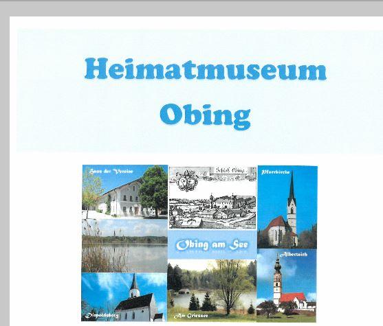Titelbild zur Veranstaltung : Heimatmuseum Obing